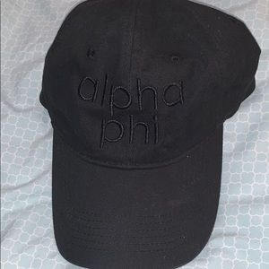 fc2a8d96204 Accessories - Alpha Phi - black baseball hat